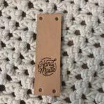 Leren Label Naturel - Handmade