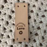 Leren Label Naturel - Handmade with Love